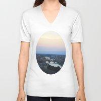 italian V-neck T-shirts featuring Italian Skies by Bzerk Creative