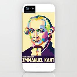 Immanuel Kant in Pop Art iPhone Case