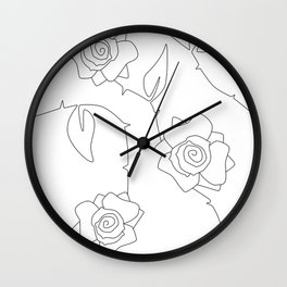 Rose Bush Wall Clock