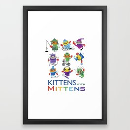 Kittens with Mittens Framed Art Print