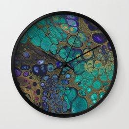 Golden Space Wall Clock