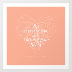 Secret Of Love Art Print