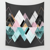 nordic Wall Tapestries featuring Nordic Seasons by Elisabeth Fredriksson
