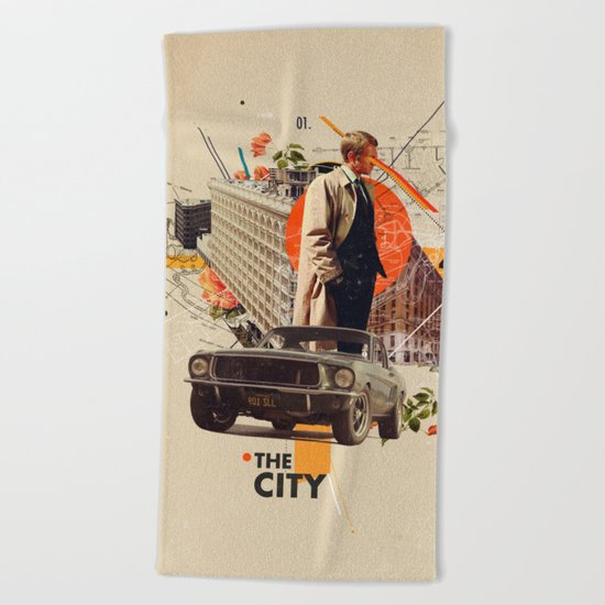 The City 1968 Beach Towel