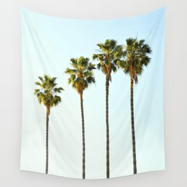 Four Palm Trees Wall Tapestry
