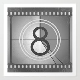 Countdown Film Art Print