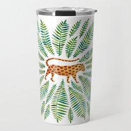Jaguar – Green Leaves Travel Mug