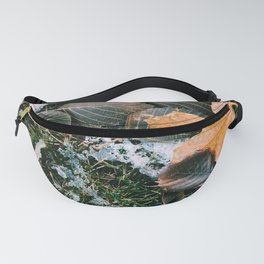 Autumn leaves in winter Fanny Pack
