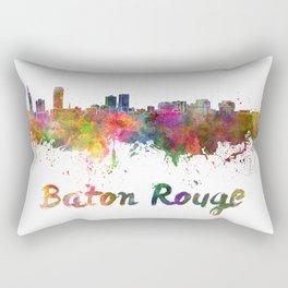 Baton Rouge skyline in watercolor Rectangular Pillow