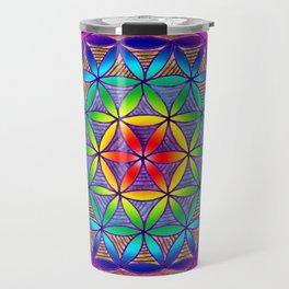 Flower of Life - trippy mandala Travel Mug