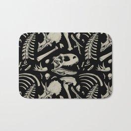 Dino Bones Black Bath Mat