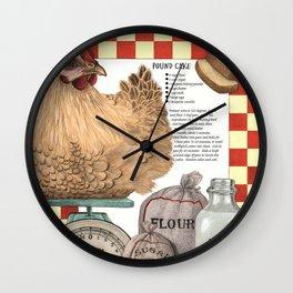 Pound Cake Wall Clock