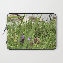 Peaceful View from My Morning Yoga Practice -- Pigeon Pose Laptop Sleeve