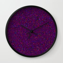 Antique Texture Plum Purple Wall Clock