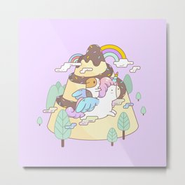 Bubu the Guinea pig, Unicorn Metal Print