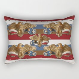 Bronze American Eagles Rectangular Pillow