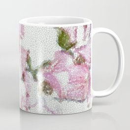 Dogwood Tree Flowers (stained glass-pink&green) Coffee Mug