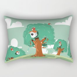 Cute birds and there bird boxes Rectangular Pillow