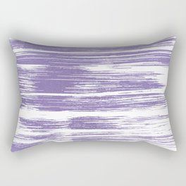 Modern abstract lilac lavender white watercolor brushstrokes Rectangular Pillow