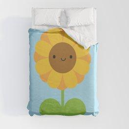 Kawaii Sunflower Duvet Cover