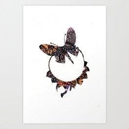 Butterfly Brooch Art Print