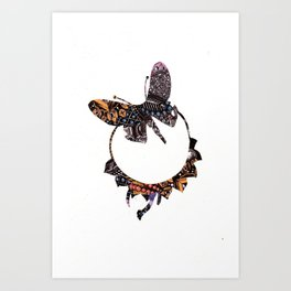 Butterfly Brooch Art Print