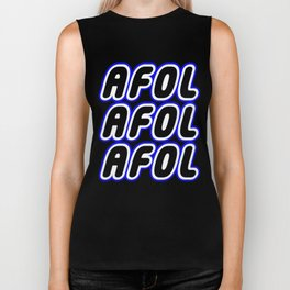AFOL AFOL AFOL in Brick Font Logo Design [Alternate Colors] by Chillee Wilson Biker Tank