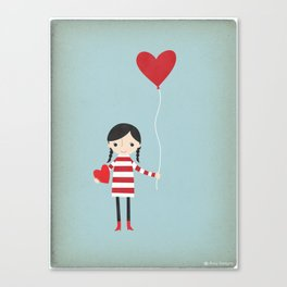 Love is in the Air - Girl Canvas Print