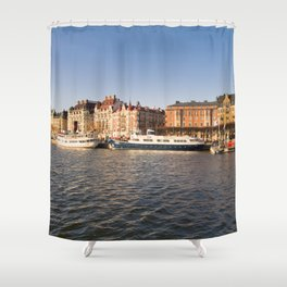 Between Sunset And Water in Stockholm Shower Curtain