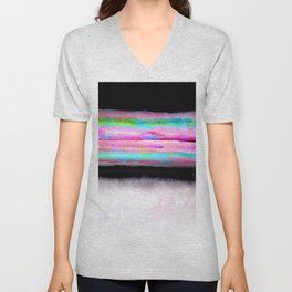 Fading view abstract landscape painting Unisex V-Neck