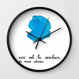 Ceci est la couleur de mes reves (turquoise) Wall Clock