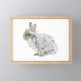 Lionhead Rabbit Framed Mini Art Print