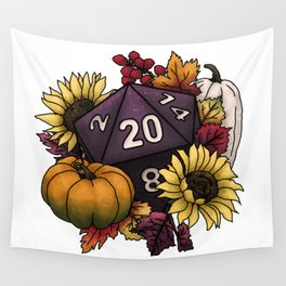 Harvest D20 - Autumn Tabletop Gaming Dice Wall Tapestry