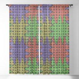 Wiggle Weave Grid Pattern Sheer Curtain
