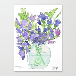 Sweet Pea Flowers Canvas Print