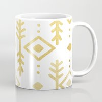 nordic Mugs featuring GOLD NORDIC by Nika