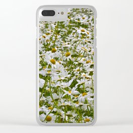 White and Yellow Daisies Clear iPhone Case