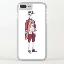Mister Ostrich Clear iPhone Case