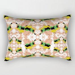 Hippopotamus Yellow/Green Rectangular Pillow