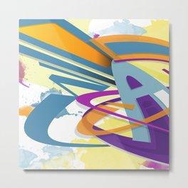 Graff abstract Metal Print
