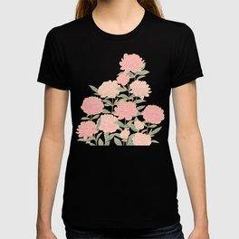 Pink peonies vintage pattern T-shirt