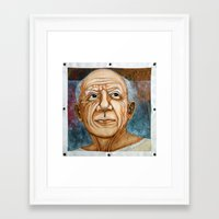pablo picasso Framed Art Prints featuring Pablo Picasso by Michael Cu Fua