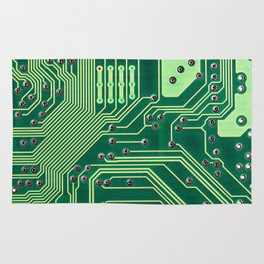 Funny Nerdy Computer Motherboard Rug