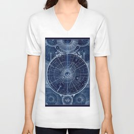 Celestial Map of the Universe Unisex V-Neck