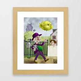 the Bowl Hat & Blowfish Framed Art Print
