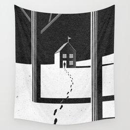 Walking Home/Deposit NY Wall Tapestry
