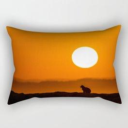 Early Morning Cat Rectangular Pillow