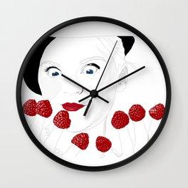 Raspberry Fingers Wall Clock