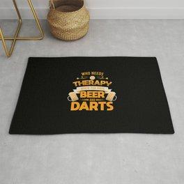 Dart Player Darts Tournament Beer Drinking Gift Rug
