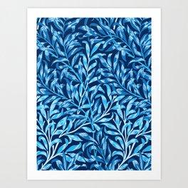 William Morris Willow Bough, Cobalt and Navy Blue Art Print
